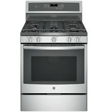 GE Profile 30  Wide Gas 5 Burner Freestanding Convection Range  PGB930SEJS  NEW