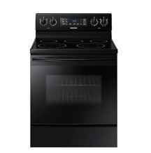 Samsung 5 9 cu  ft  Electric Range with Two Dual Power Elements Blk or Wht