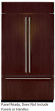 Sub Zero BI 42UFD O 42  Built in French Door Refrigerator Panel Ready