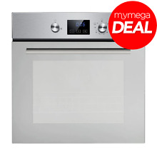 Innocenti REF28807 60cm 58L Built In Mirror Finish Gas Oven with LED Display