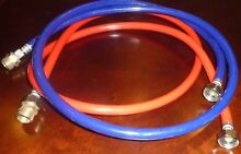 Two Washing Machine High Pressure Braided Fill Hoses  6 Ft   HOT COLD