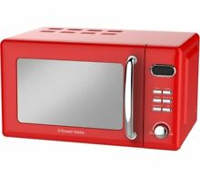 RUSSELL HOBBS RHRETMD806R Retro Compact Solo Microwave Red