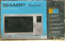 Sharp SMC1655BS    1 6 Cu  Ft  Family Size 1100 Watts Stainless Steel Microwave