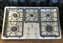 Stainless Steel GE  Profile 36  Built   In Gas Cooktop Used   In Good Condition