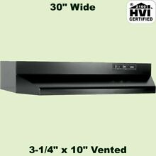 Black over The Stove Range Hood Ducted 30  Exhaust Fan under Kitchen Cabinet