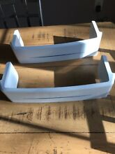 GE REFRIGERATOR GSS22JEMDWW Door Bin Shelf EUC Genuine OEM  WR71X10232 Set Of 2