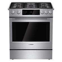 BOSCH 800 Series 30  Wide Gas 5 Burner Slide in Convection Range  HGI8054UC  NEW