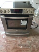 LG 30 Inch Slide In Electric Range Convection Stainless Steel LSE3093ST