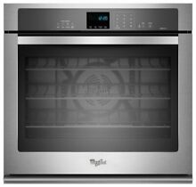 Whirlpool   30  Built In Single Electric Convection Wall Oven   Stainless steel