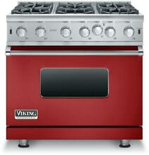 Viking Professional 5 Series VGIC53616BAR 36 Inch Pro Style Gas Range  Red Apple