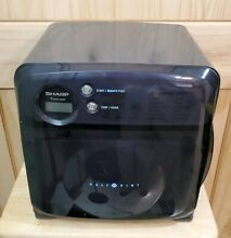 Sharp Half Pint BLACK Carousel Compact Microwave Oven Model R 120DK