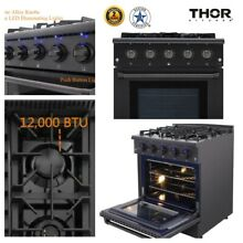 Thor 30  Gas Range Convection Oven Stainless Steel 4 Burners Griddle 4 2cu ft