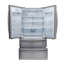 36 Inch French Door Refrigerator Thor Kitchen HRF3601F Automatic Ice Maker