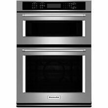 KitchenAid 30  Convection Microwave   Convection Wall Oven Combo KOCE500ESS  NEW