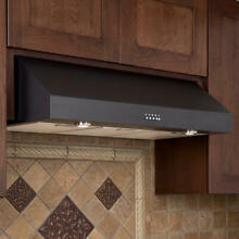 Signature Hardware 36  Fente Under Cabinet Range Hood Black Stainless Steel