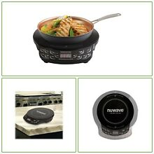 Black Induction Hot Plate Programmable Auto Off Cookware Dorms RV Camping Home