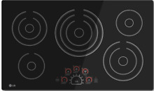 LG LCE3610SB 36 Inch Smoothtop Electric Cooktop  5 Steady Heat Radiant Elements