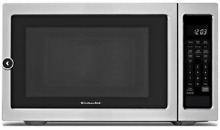 Kitchenaid KCMS2255BSS 1200 Watt Countertop Microwave Oven   Black on Stainless