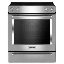KitchenAid KSEG700ESS 30  6 4 cu  ft  Slide In Electric Range with Self Cleaning