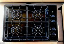 GE Gas Burner 30  inch Gloss Black Cooktop Hob Built in Stove Top JGP328BEC1BB