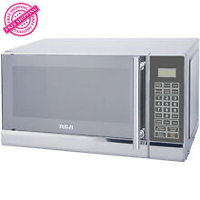 RCA 700 Watts 0 7 Cu  Ft  Stainless Steel Microwave Countertop 10 Power levels
