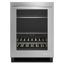 Jenn Air 24  Stainless Steel Under Counter Beverage Center   JUB24FRERS