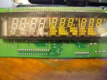 71003401R Jenn Air double Oven Control Board   Clock WP71003401 Used Tested