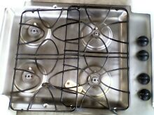 GE STAINLESS STEEL 30 INCH GAS 4 BURNER COOKTOP WITH REGULATOR USED