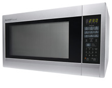 Sharp R651ZS Sensor Microwave Oven 2 2 cu ft  Stainless Steel 1 200W