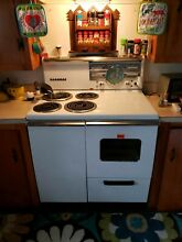 Antique Vintage Sears Kenmore Electric Range   Oven c  about 1951 Working