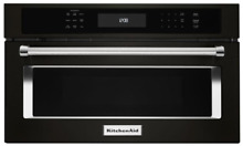 KitchenAid Black Stainless Built In Convection Microwave Oven KMBP100EBS