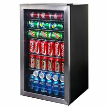NewAir Beverage Cooler and Refrigerator  Mini Fridge with Glass Door  Perfect
