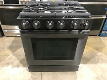 Samsung NX58M9960PM 5 8 cu ft  30  Gas Chef Collection Pro Range Dual Convection
