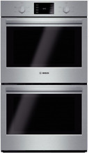 Bosch HBL5551UC 500 Series 30 Inch Double Electric Wall Oven in Stainless Steel
