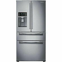 New SAMSUNG 24 7 Cu Ft  French Door Refrigerator Kitchen Appliance