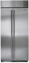 Sub Zero  BI 36S S TH 36  Built in Side by Side Refrigerator Stainless Steel