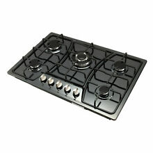 30 inch Titanium Stainless Steel 5 Burners Gas Cooktop W  CSA  Regulator NG LPG