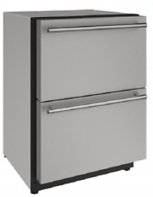 U Line U2224DWRS00A 2000 Series 24  Built In Double Refrigerator Drawers S Steel