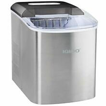 Igloo 26 Pound Automatic Portable Countertop Ice Maker Machine  Stainless Steel