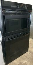 27  Black Thermador Microwave And Convection Wall Oven Used   In Good Condition
