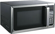Microwave Oven 0 9 Cu Ft Hamilton Beach 900w Stainless Steel Black Countertop