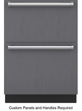 Sub Zero ID 24F 24 Inch Integrated Panel Ready Double Drawer Freezer