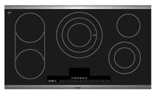 Bosch NETP666SUC Benchmark Series 36 Inch Electric Smoothtop Cooktop 5 Burners