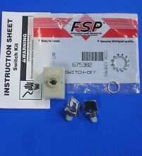 Whirlpool 675382 Kenmore Maytag Trash Compactor Switch Kit NEW OEM