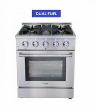 THOR KITCHEN 30  DUAL SS FUEL RANGE with Free 30  Range Hood  CSA and ETL Listed