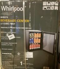 Whirlpool  2 7 Cubic ft  mini refrigerator Beverage Center WHB27S