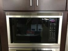 MC24 AND 811066  WOLF 24  CONVECTION MICROWAVE AND 30  TRIM KIT DISPLAY