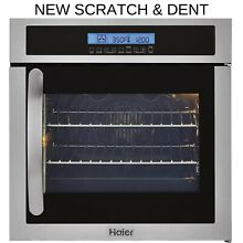 Haier 24  Single Stainless Wall Oven European Heating HCW225RAES