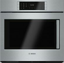 Bosch 30  Single Electric Wall Oven Convection Stainless S HBLP451LUC 02