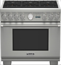 Thermador PRD366JGU 36  Pro Grand 6 Burner Dual Fuel Range in Stainless Steel